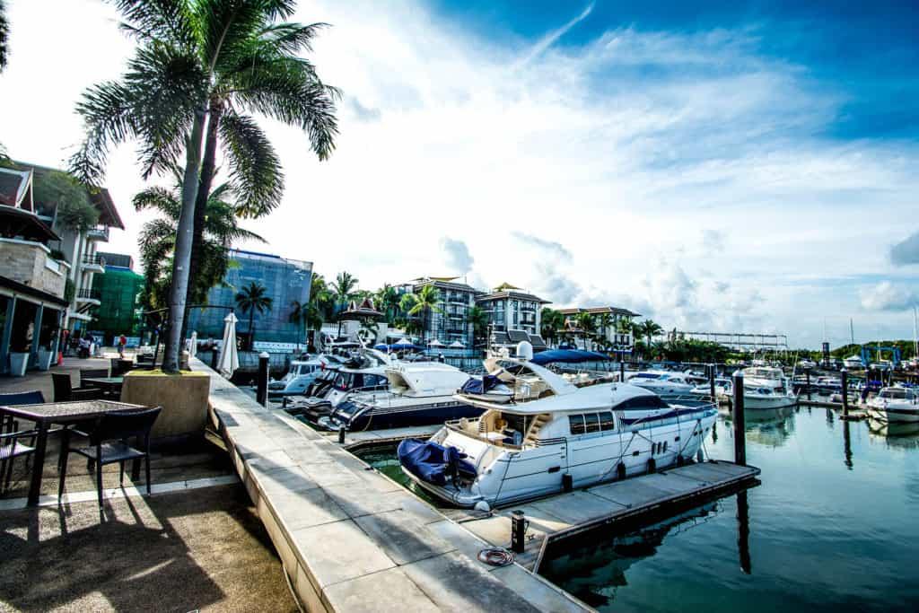 Royal Phuket Marina boat view