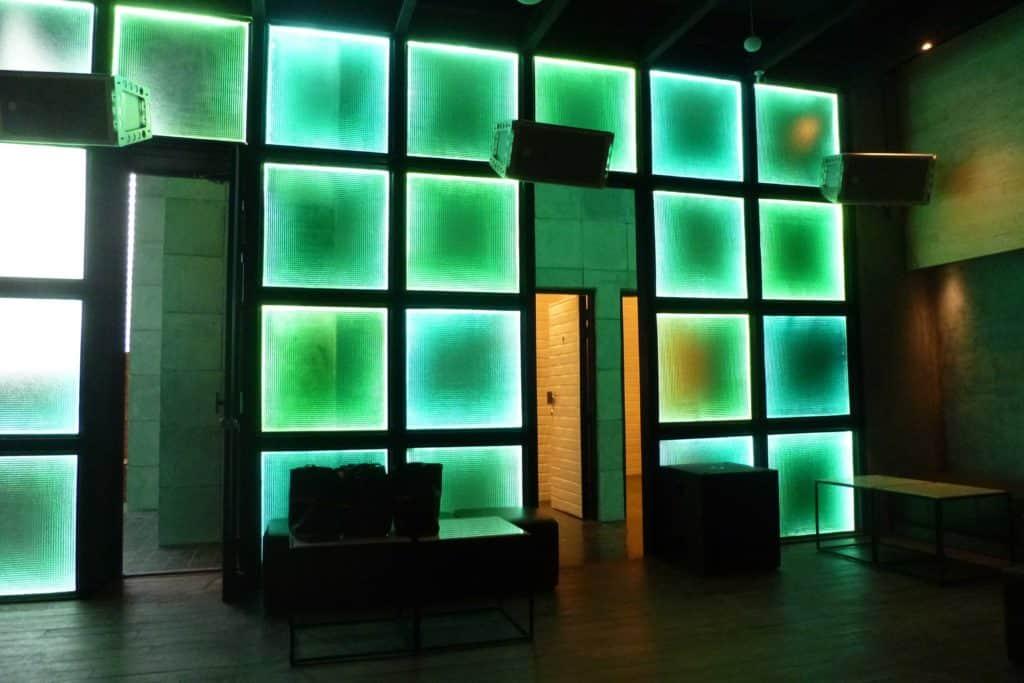 Interior photo green LED of Beam Nightclub, Thailand Event Guide