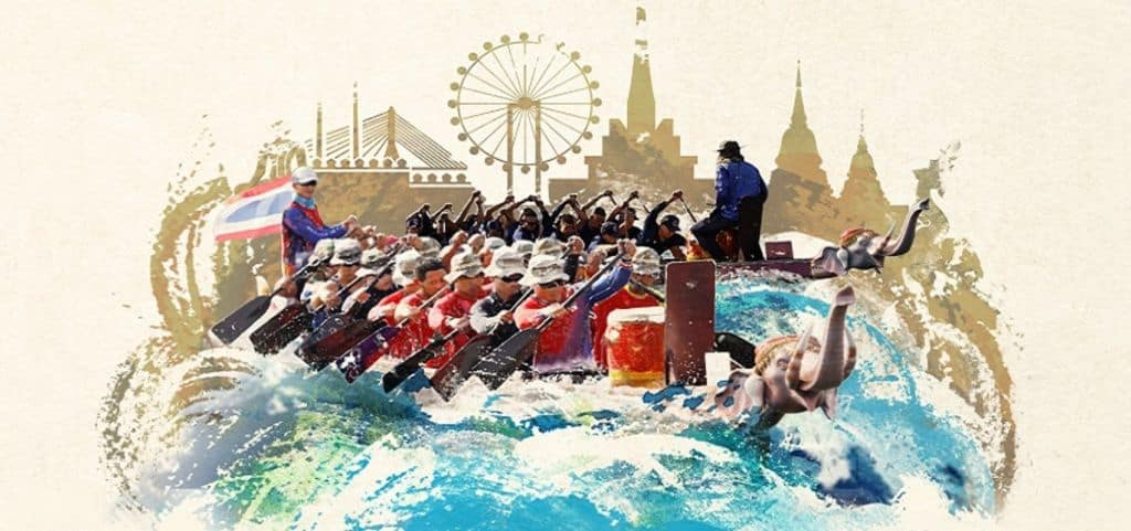 Elephant boat race and riverside festival. Thailand Event Guide