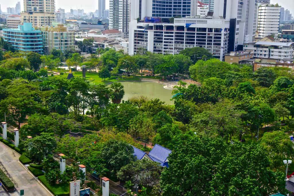 Air Pollution in Bangkok. Benjasiri Park. Thailand Event Guide