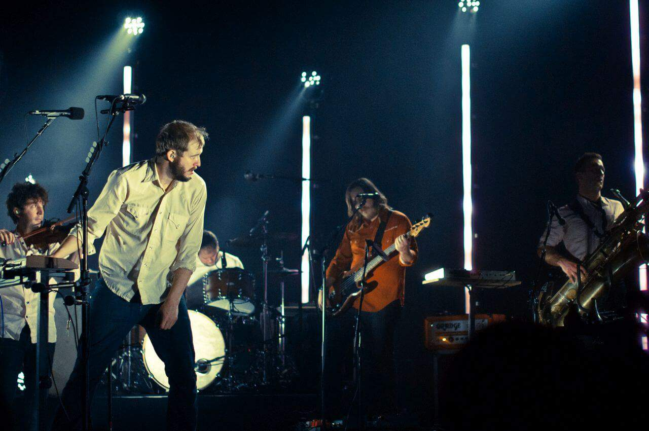 Justin Vernon of Bon Iver having fun on stage. Thailand Event Guide
