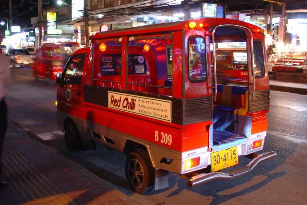 Phuket Island Transport - Thai Tuk-Tuks are a great way to explore Thailand